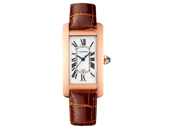 Buy original Cartier TANK AMÉRICAINE W2620030 with Bitcoins!