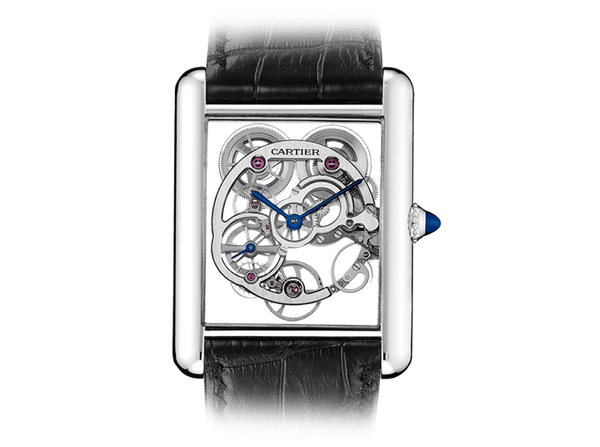 Buy original Cartier TANK LOUIS CARTIER SKELETON SAPPHIRE W5310012 with Bitcoins!
