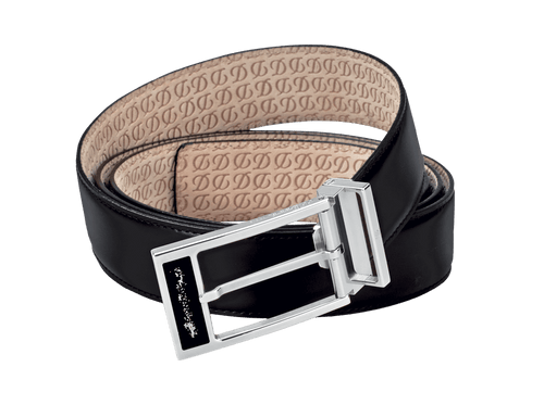 Buy original leather belts S.T. Dupont Line D Heritage Black 051230 with Bitcoin!