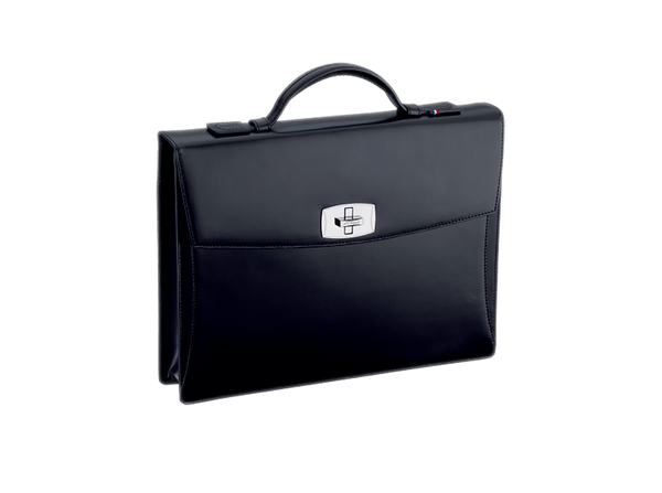 Buy original leather bags S.T. Dupont  Tourniquet Briefcase Line D Leather Black 181000 with Bitcoin!