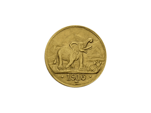 Buy original gold coins German East Africa 15 rupees elephant 1916 gold with Bitcoin!