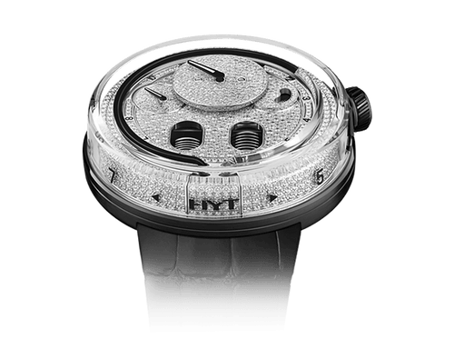 Buy original HYT H0 Diamond Black 048-AC-86-NF-CR with Bitcoins!