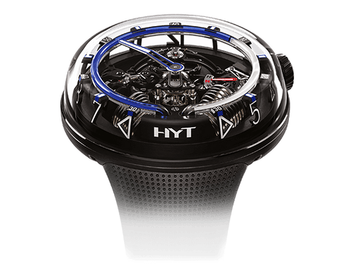 Buy original HYT H20 Black DLC Blue 251-AD-462-BF-RU with Bitcoins!