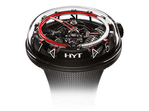 Buy original HYT H20 Black DLC Red 251-AD-461-RF-RU with Bitcoins!