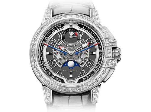 Buy original Harry Winston Ocean 20th Anniversary Biretrograde Perpetual Calendar OCEAPC42WW002 with Bitcoins!