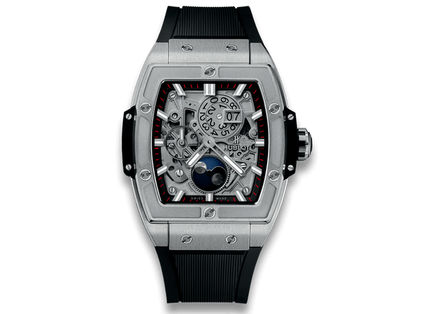 Buy original Hublot Spirit Of Big Bang Moonphase Titanium 647.NX.1137.RX with Bitcoins!