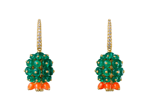 Buy original Cartier Cactus de Cartier earrings H8000238 with Bitcoins!