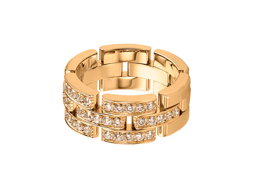 Buy original Cartier Maillon Panthère ring B4127100 with Bitcoins!