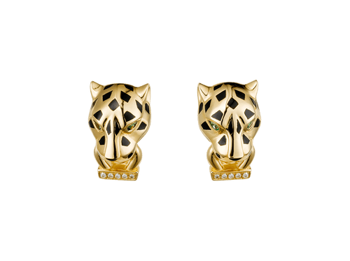 Buy original Cartier Panthère de Cartier earrings B8044700 with Bitcoins!
