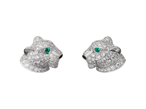 Buy original Cartier Panthère de Cartier earrings N8050700 with Bitcoins!
