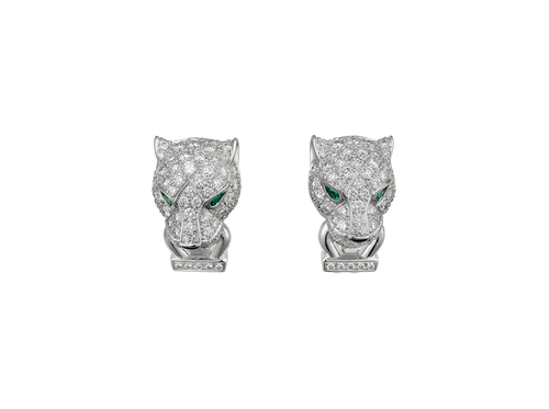 Buy original Cartier Panthère de Cartier earrings N8503200 with Bitcoins!