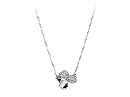 Buy original Jewelry Tiffany Diamond and Tanzanite Flower Pendant 61625690 with Bitcoins!