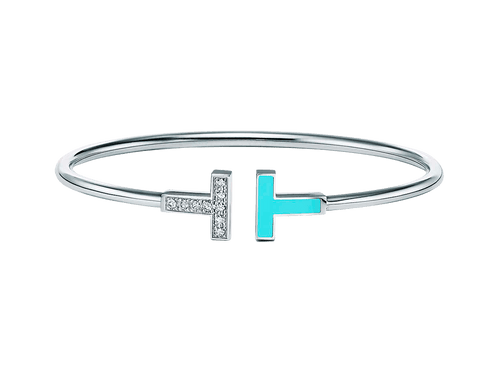 Buy original Jewelry Tiffany T Bangle GRP11110 with Bitcoins!