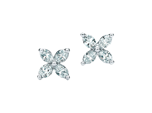 Buy original Jewelry Tiffany Victoria Ear Pins 63106402 with Bitcoins!