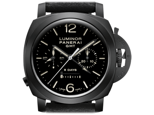 Buy Panerai LUMINOR 1950 CHRONO 8 DAYS GMT CERAMICA with Bitcoins on Bitdials