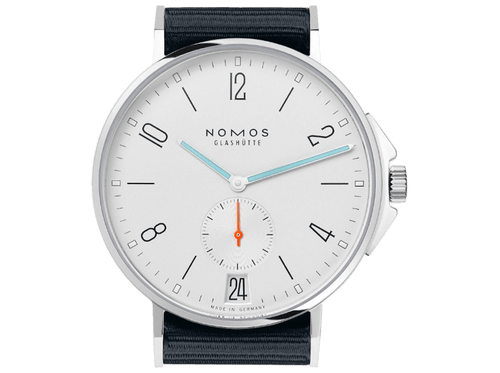 Buy original Nomos Glashuette AHOI DATE 551 with Bitcoin!