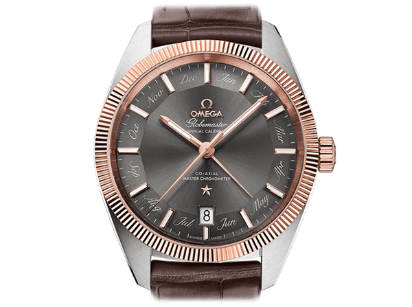 Buy original Omega GLOBEMASTER OMEGA CO-AXIAL MASTER CHRONOMETER ANNUAL CALENDAR 130.23.41.22.06.001 with Bitcoins!