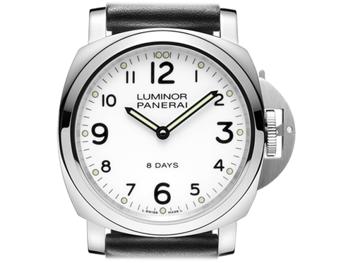 Buy original Panerai Luminor Base 8 Days Acciaio PAM00561 with Bitcoin!