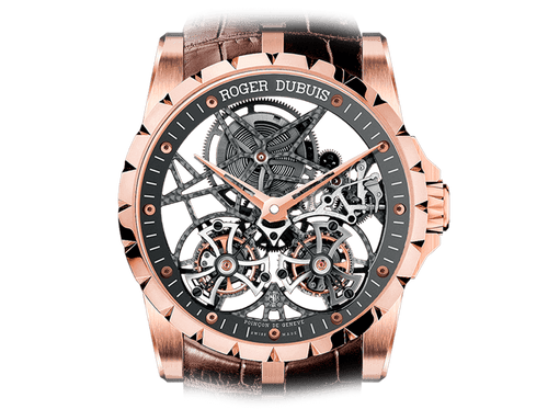 Buy Roger Dubuis Excalibur Skeleton double flying tourbillon with Bitcoins on Bitdials