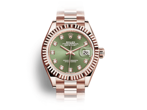 Buy original Rolex DATE JUST 28 28 m 279175-0009 with Bitcoins!