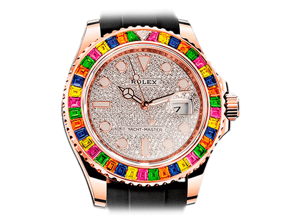 Buy original Rolex YACHT-MASTER DIAMOND 116695SATS with Bitcoin!