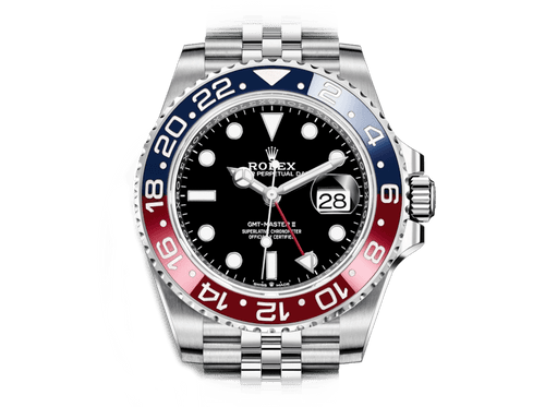 Buy original Rolex GMT-MASTER II m 126710blro-0001 with Bitcoins!
