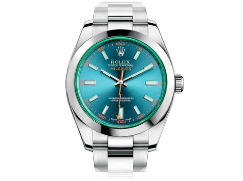 Original ROLEX MILGAUSS 116400GV Z-Blue for bitcoins!