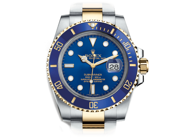 Buy original Rolex Submariner 116613LB with Bitcoin at www.bitdials.eu