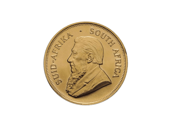 Buy original gold coins South Africa 1 oz Krugerrand 1986 with Bitcoin!