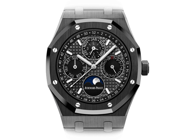 Buy original Audemars Piguet ROYAL OAK PERPETUAL CALENDAR with Bitcoins!