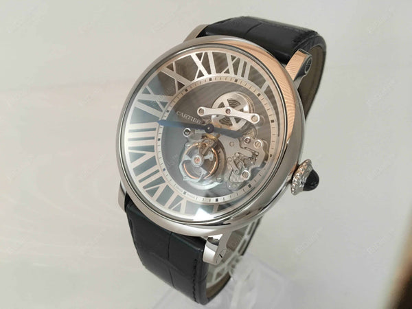 Buy original Cartier Rotonde de cartier Tourbillon W1556214 with Bitcoin at BitDials.eu