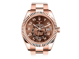 Buy original Rolex SKY-DWELLER 326935 choco with Bitcoin!