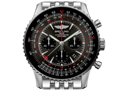 Buy original Breitling NAVITIMER 1 B04 CHRONOGRAPH GMT 48 AB04413A/F573/453A with Bitcoins!