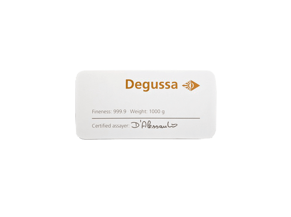 BitDials | Buy original Degussa Gold Bar (casted) 1000g with Bitcoins!