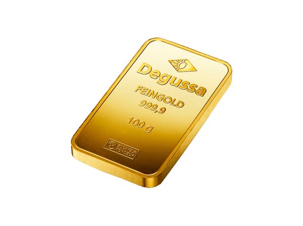 BitDials | Buy original Degussa Gold Bar (minted) 100 g with Bitcoins!