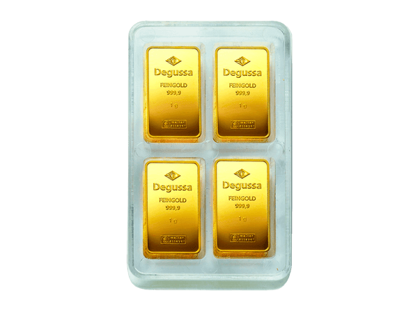 BitDials | Buy original Degussa Gold Bar (minted) 4 x 100 gram with Bitcoins!