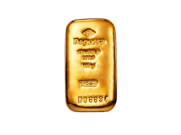 BitDials | Buy original Degussa Gold Bar (casted) 100 g with Bitcoins!