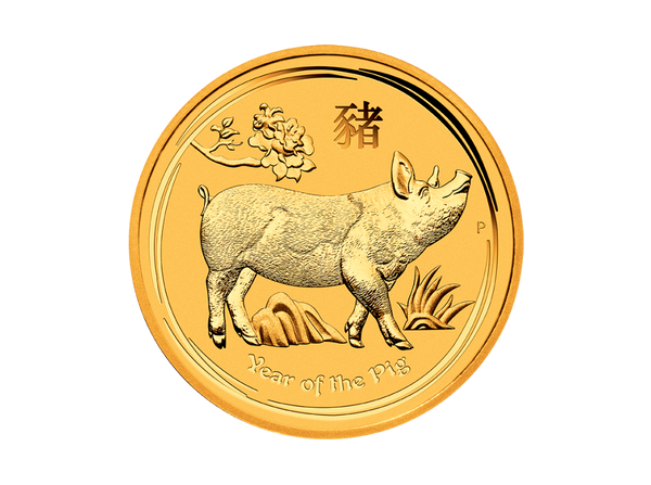 Buy original gold coins 1 kg Gold Lunar II Pig 2019 with Bitcoin!