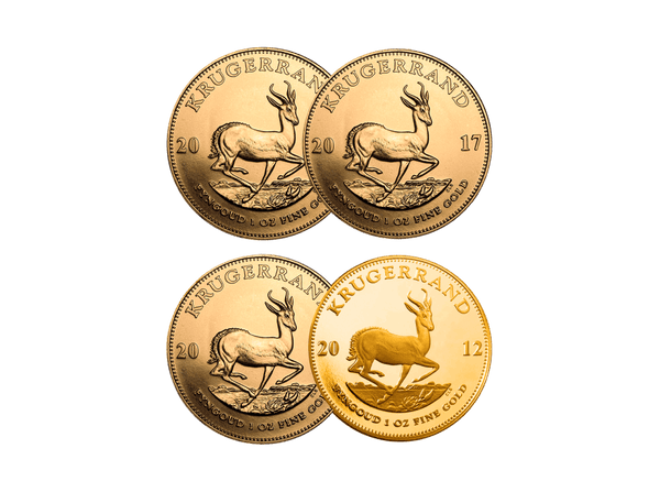 Buy original gold coins 1 oz Gold Krugerrand with Bitcoin!