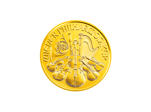 Buy original gold coins 1 oz Gold Wiener Philharmoniker with Bitcoin!