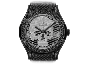 Buy original Hublot Classic Fusion 542.ND.9100.LR.1700.SKULL with Bitcoins!