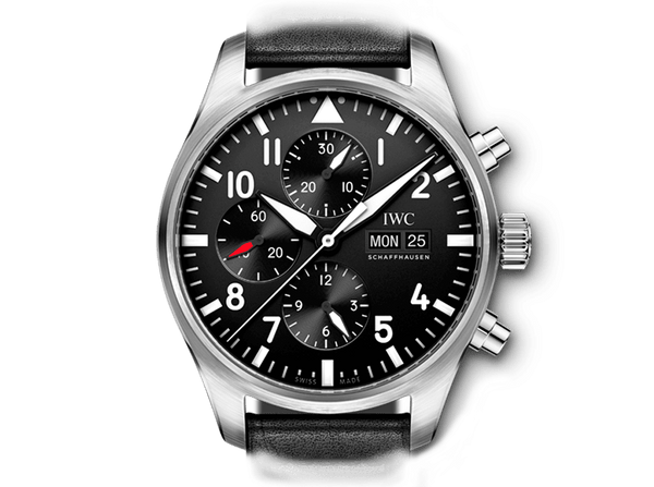 Buy original IWC PILOT'S WATCH CHRONOGRAPH IW377709 with Bitcoins!
