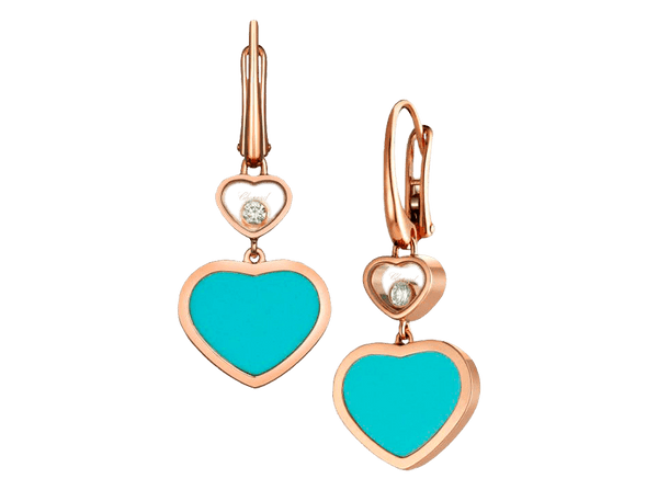 Buy original Chopard HAPPY HEARTS EARRINGS with Bitcoins!
