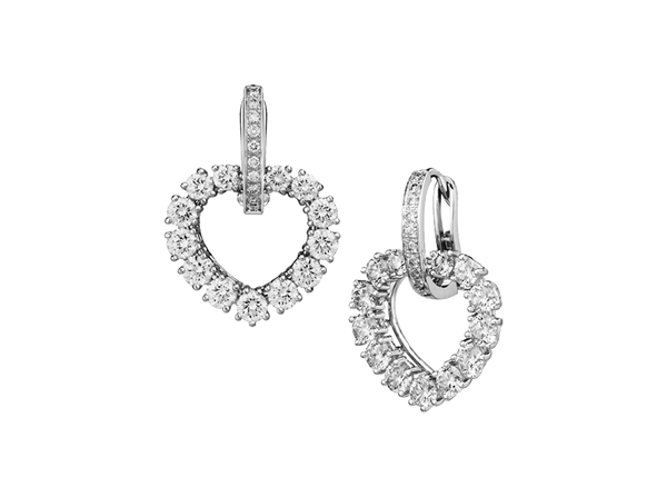 Buy original Chopard L'HEURE Heart Earring with Bitcoins!