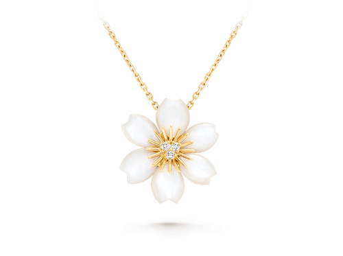Buy original Jewelry Van Cleef & Arpels Rose de Noël Pendant VCARP7T000 with Bitcoins!