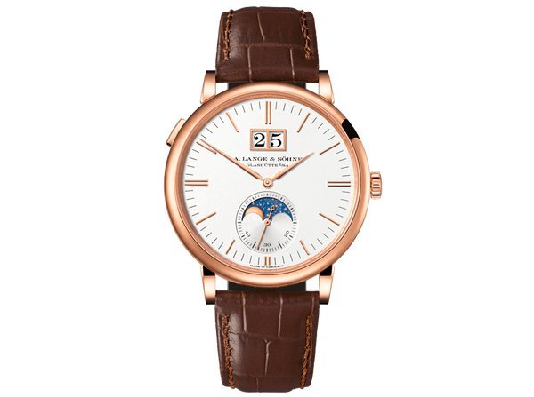 Buy original A.Lange & Sohne Saxonia Moon Phase 384-032 with Bitcoins!