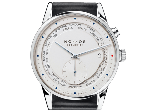 Buy original Nomos Glashuette ZURICH WORLD TIME 805 with bitcoin!
