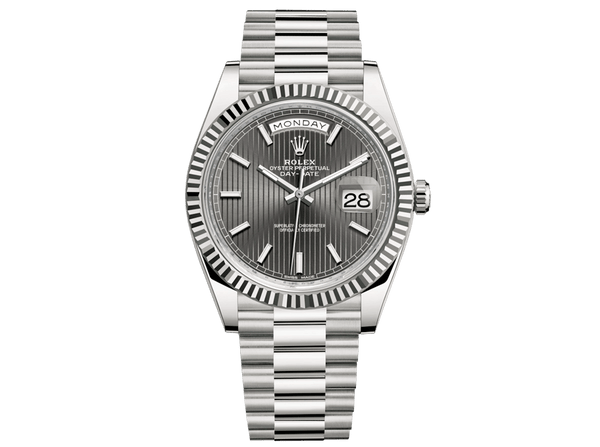 Buy original Rolex DAY-DATE 40 228238 with Bitcoins!