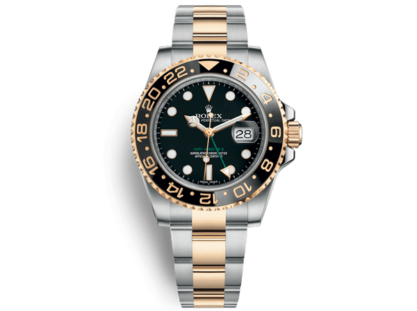 Buy original Rolex GMT-MASTER II 116713LN with Bitcoins!