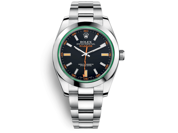 Buy original ROLEX MILGAUSS 116400gv with bitcoins!
